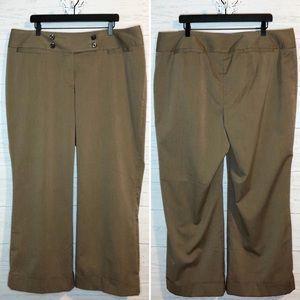 Lane Bryant light brown cuffed trousers